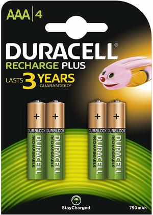 DURACELL HR03 STAY CHARGED AAA - CONFEZIONE DA 10, BLISTER DA 4