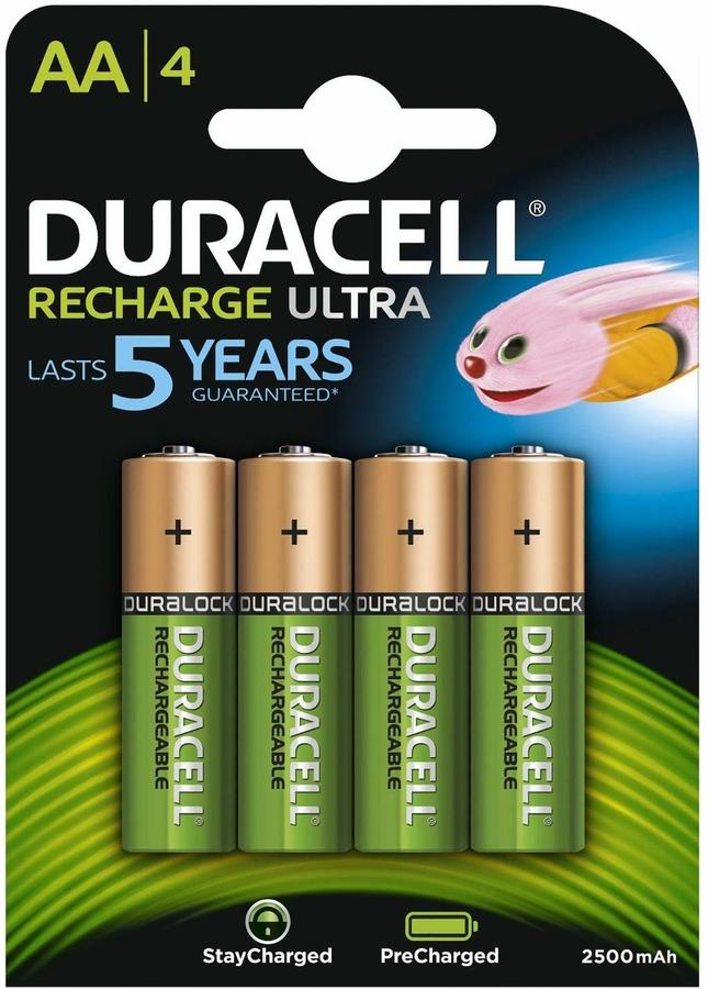 DURACELL HR06 STAY CHARGED AA - CONFEZIONE DA 10, BLISTER DA 4