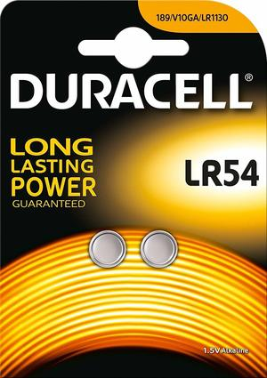 DURACELL LR54 BATTERIA BL2 - CONFEZIONE DA 10, BLISTER DA 2