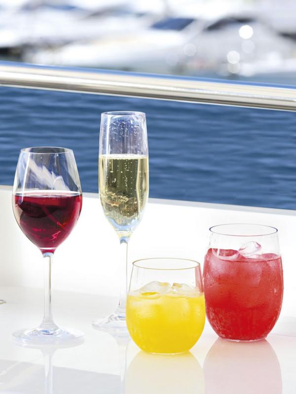 Flute Antiscivolo Clear in Tritan 6 Pezzi Serie MISTRAL di Marine Business - Offerta di Mondo Nautica 24