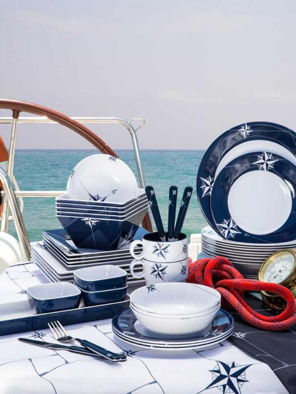 Piatto Melanina Dessert Quadrato serie NORTHWIND di Marine Business - Offerta di Mondo Nautica 24