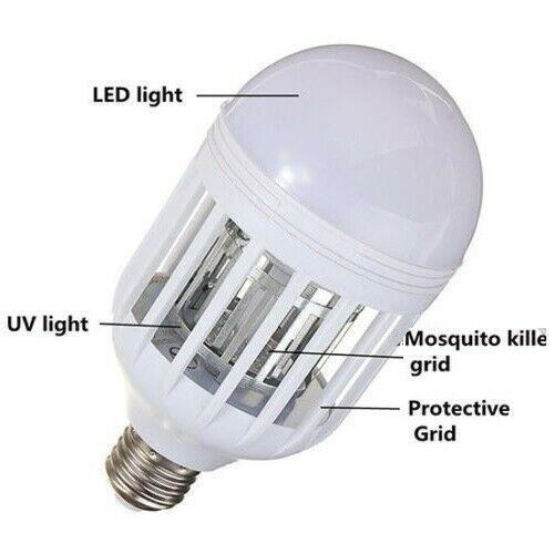 LAMPADA ZANZARIERA LED ZAPP LIGHT ELIMINA INSETTI MOSCHE ZANZARE MOSQUITO E27