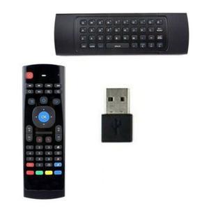 TELECOMANDO CON TASTIERA WIRELESS AIR MOUSE MOVIMENTO DONGLE USB ANDROID BOX PC