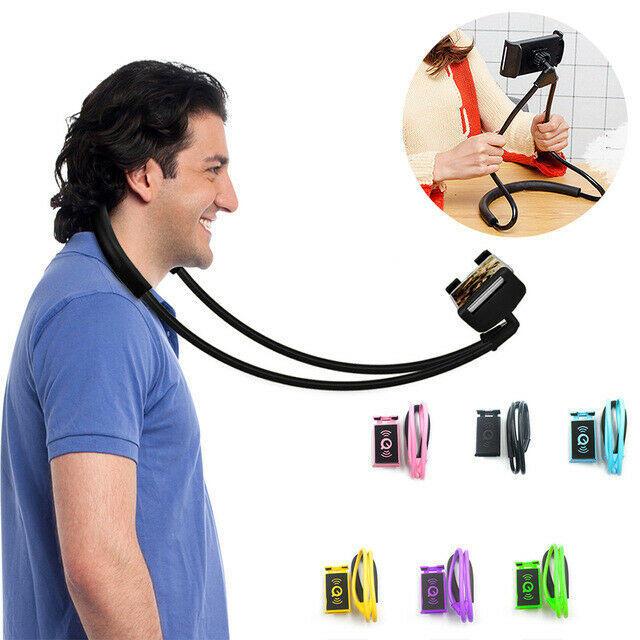 Supporto cellulare multiuso per il collo asta selfie 360° flessibile no mani