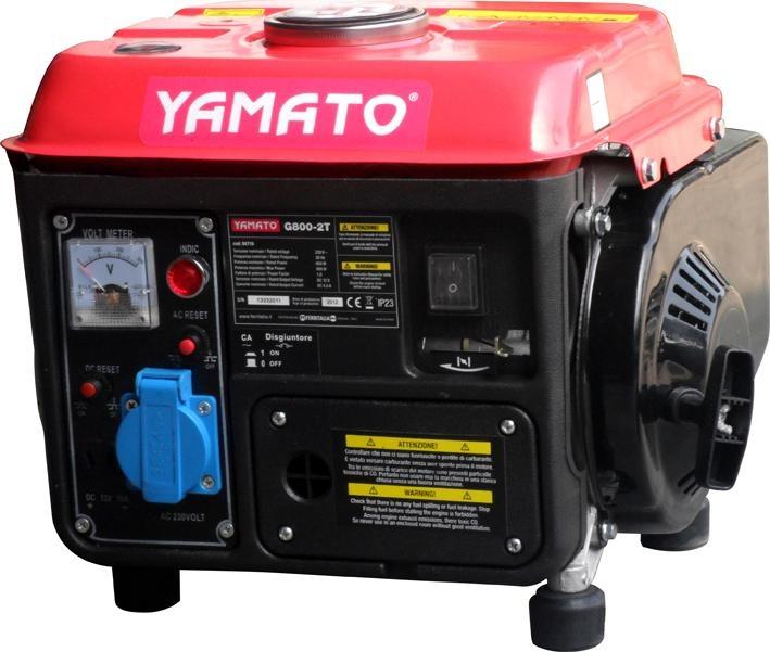 Moto generatore di corrente yamato mod g 800 0 8kw 2t for Generatore di corrente lidl