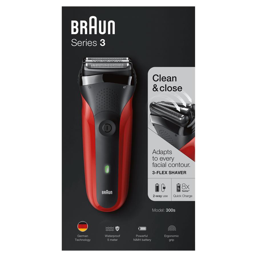 BRAUN rasoio elettrico Series 3 300s flex shaver