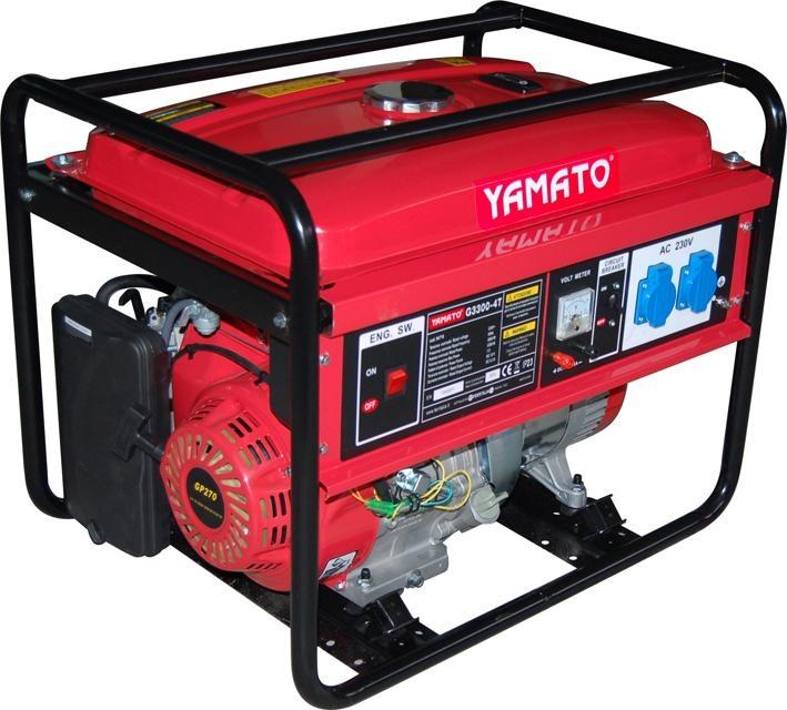 Moto generatore di corrente yamato mod g 3300 3 3kw 4t 94718 for Generatore di corrente 10 kw