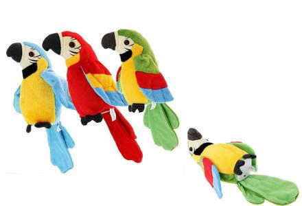 PAPPAGALLO PARLANTE elettronico PELUCHE PARLANTE peluche giocattolo IDEA regalo