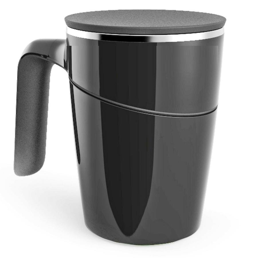 TAZZA MUG TERMICA CON VENTOSA ANTI SCIVOLO BICCHIERE LATTE CAFFÈ COLAZIONE
