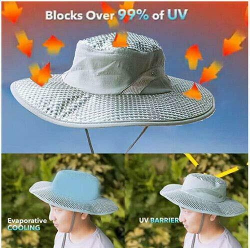 Cappello REFRIGERANTE Uomo Donna Protezione UV Traspirante Pescatore Berretto