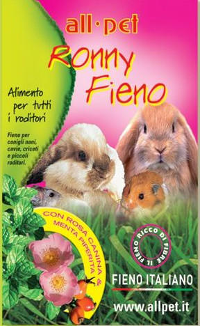 All Pet Ronny Fieno con Rosa Canina & Menta Piperita