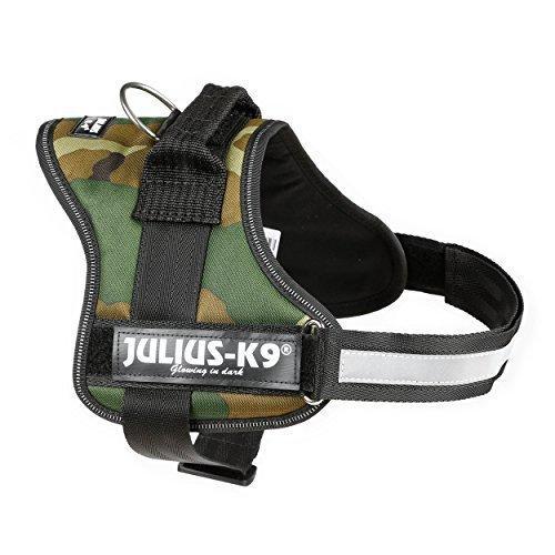 Julius K9 Pettorina Per Cane Mimetica Taglia 0 Media M-L  Imbragatura 58-76cm Collare