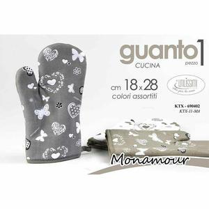 Guanto da Forno Cucina shabby Guanti in Tessuto con Cuori Farfalle Lavabile New