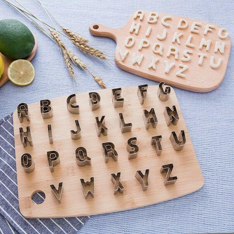 Formino Stampo per Dolci Biscotti Pasta Pasticceria Chef lettere Alfabeto AZ
