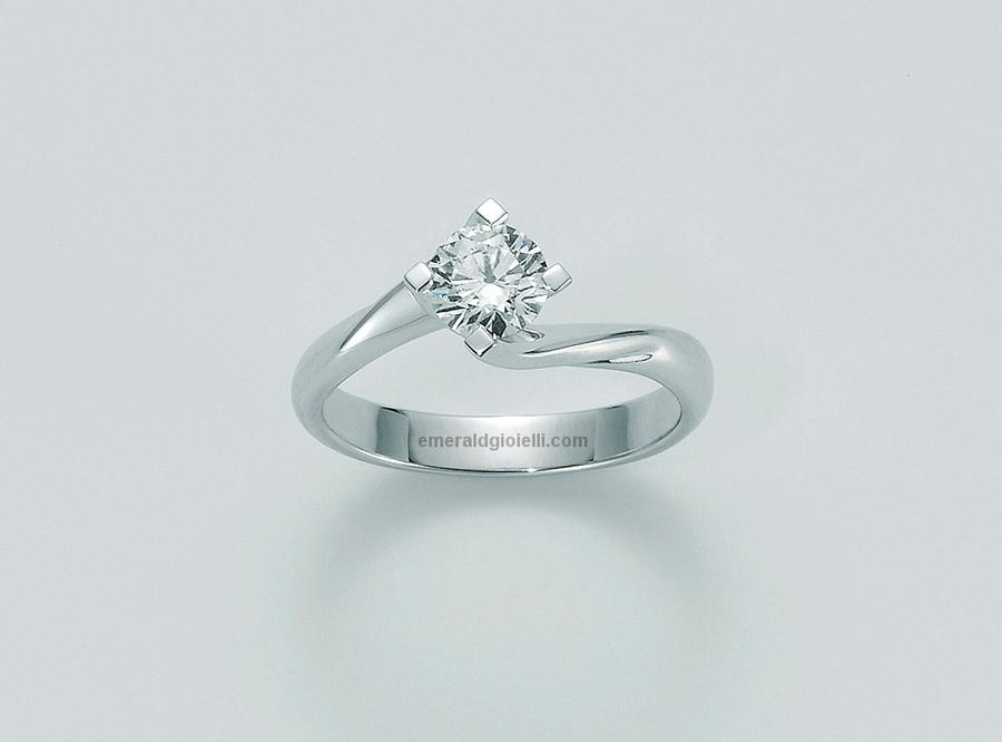 lid5180-030g7 Anello Solitario con Diamante Miluna -