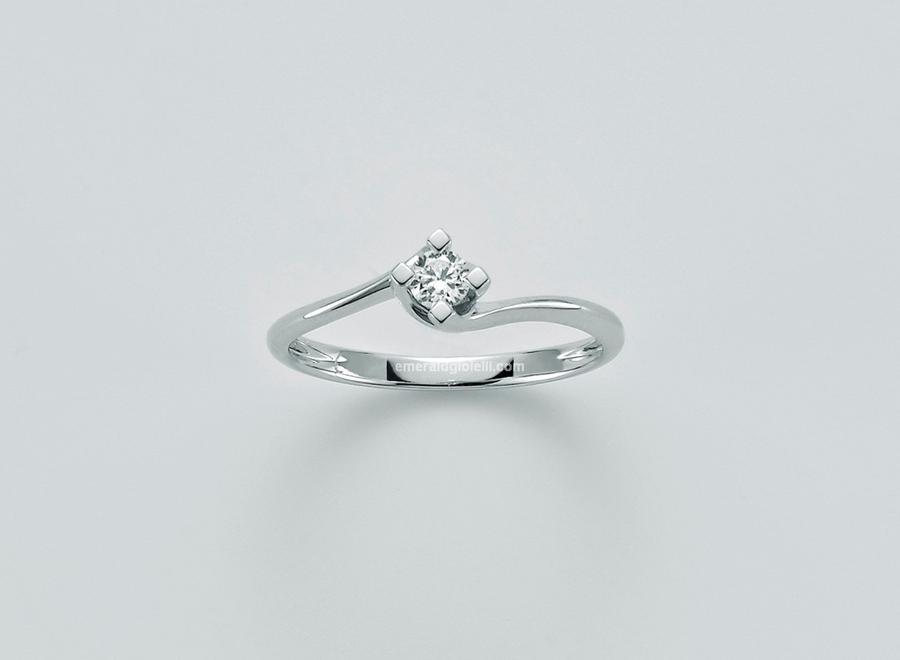 Lid5180-007g7 Anello Miluna Solitario con Diamante -