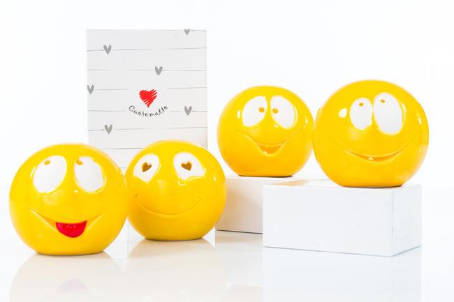 Lampada led smile in 4 modelli assortiti piccola, linea Cuor di Luce