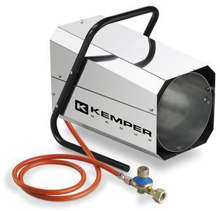 Generatore di aria calda KEMPER QT101R INOX forma ottagonale struttura in acciaio inox a gas bombola
