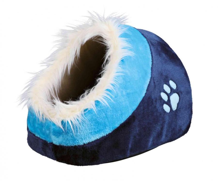 Trixie 36309 Minou Igloo Blu Cuccia Con Cuscino Per Gatti 35x26x41cm