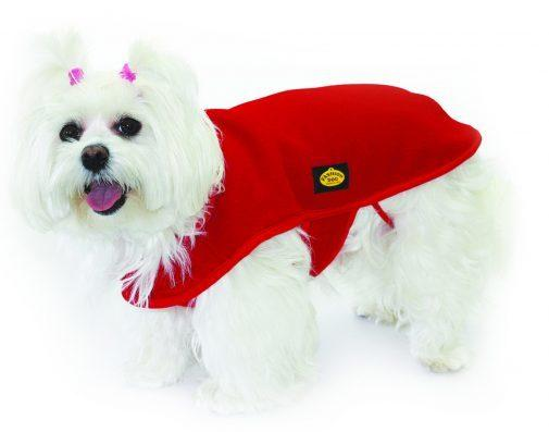 Fashion Dog Italy Cappotto In Pile Per Cane Taglia 18 Rosso Cappottino Caldo