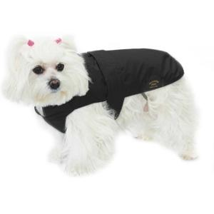 Fashion Dog Italy Cappotto Nero Per Cane Impermeabile Con Pelliccia Cappottino