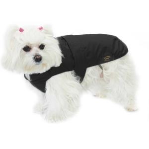 Fashion Dog Italy Cappotto Nero Per Cane Impermeabile Con Pelliccia Cappottino