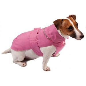 Fashion Dog Italy Cappottino Rosa Per Cane Impermeabile con Pelliccia  Cappotto