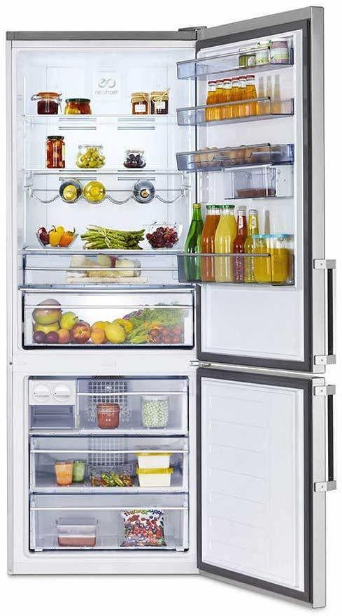 BEKO frigorifero combinato 520lt A++ SILVER RCNE520E31ZX