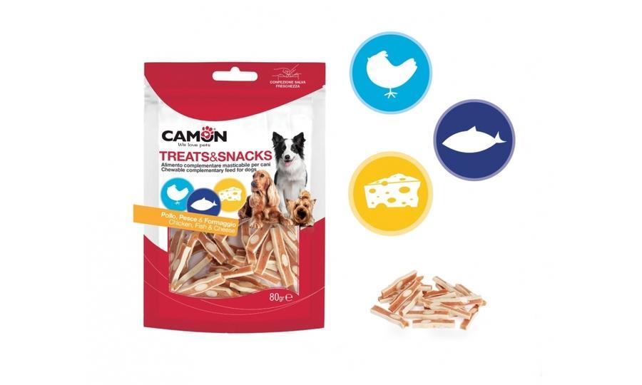 Camon AE029 Snack Per Cani Bocconcini Di Pollo e Pesce Premietti Cane