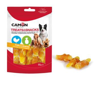 Camon AE022 Snack Per Cani Carne Di Pollo e Frutta Ananas Premietti Cane
