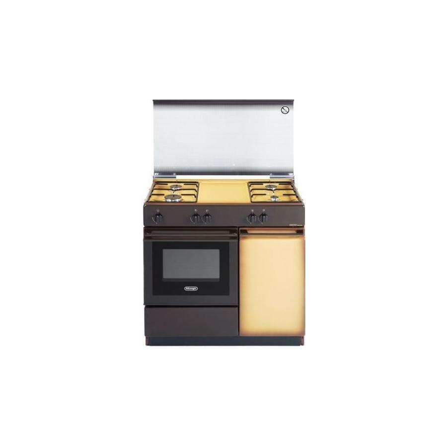 DE LONGHI cucina a gas 4 fuochi con forno a gas e grill elettrico 85x50 SGK 854 N ED