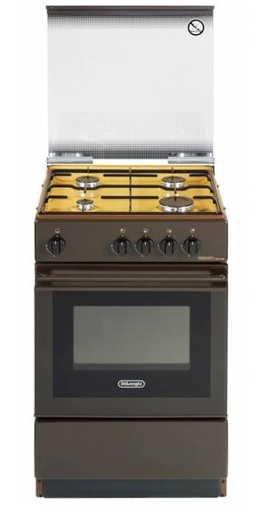 DE LONGHI cucina a gas 4 fuochi con forno 50x50 SGK554GBN