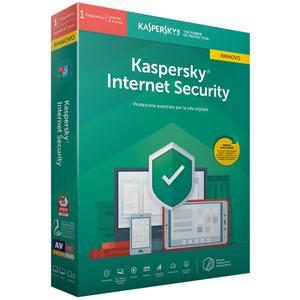 KASPERSKY Internet Security 2020 1 utente 1 anno rinnovo