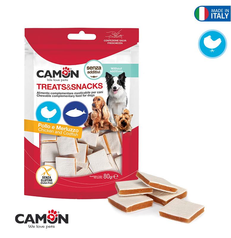 Camon AE406 Snack Per Cani Pollo e Merluzzo Bocconcini Premietti Addestramento