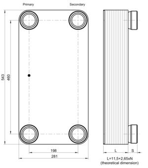 """Échangeur de chaleur GBS 757L-80 (XG1,XG2) 4 x 2"""" Kelvion"""