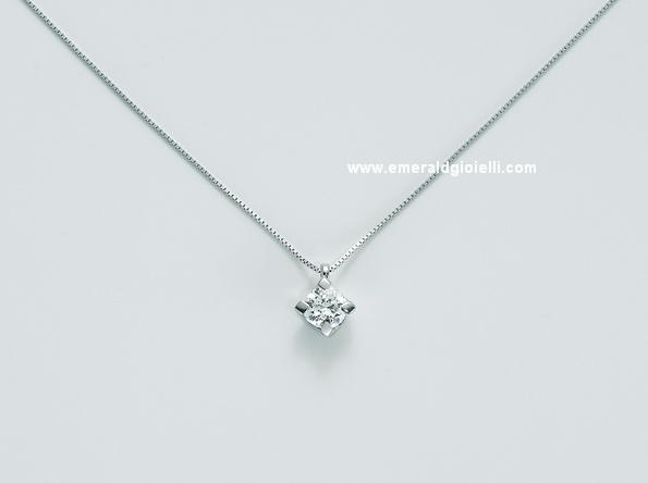 CLD5065 030g7 Girocollo con Diamante centrale Miluna -