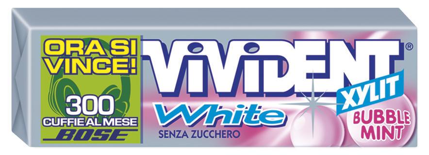 VIVIDENT STICK WHITE BUBBLE MINT PZ 40