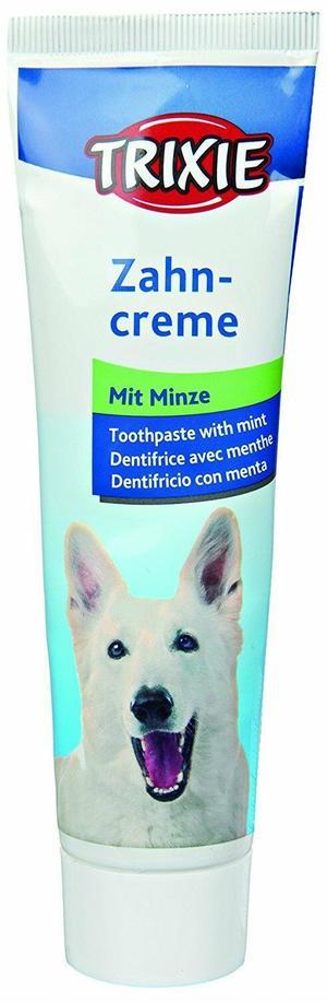 Trixie Dentifricio Alla Menta Per Cani Pasta Comestibile 100g Alito Fresco Igiene Dentale