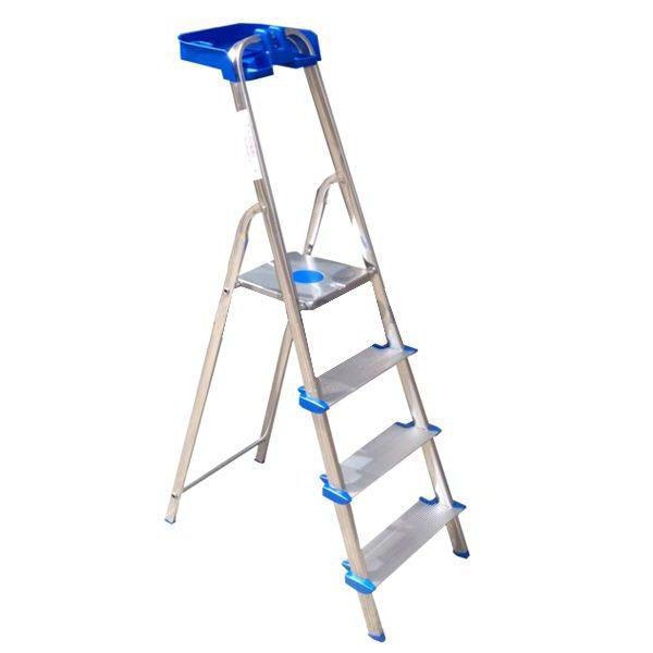 Scala domenica in alluminio ROBUSTA TITANICA scalino extra largo 3 gradini
