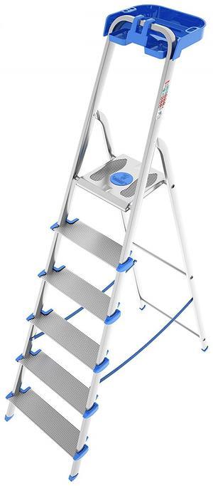 Scala domenica in alluminio ROBUSTA TITANICA scalino extra largo 6 gradini