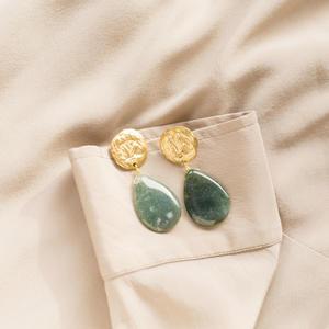 Orecchini con perno lavorato e pietre [ + colori ]