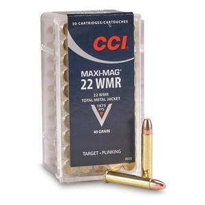CCI CAL.22 WMR MAXI-MAG 40GR FMJ