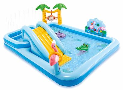 Piscina gonfiabile Playcenter Jungle INTEX 57161 - 257x216x84 cm Adventure Play Center Giungla Gonfiabile