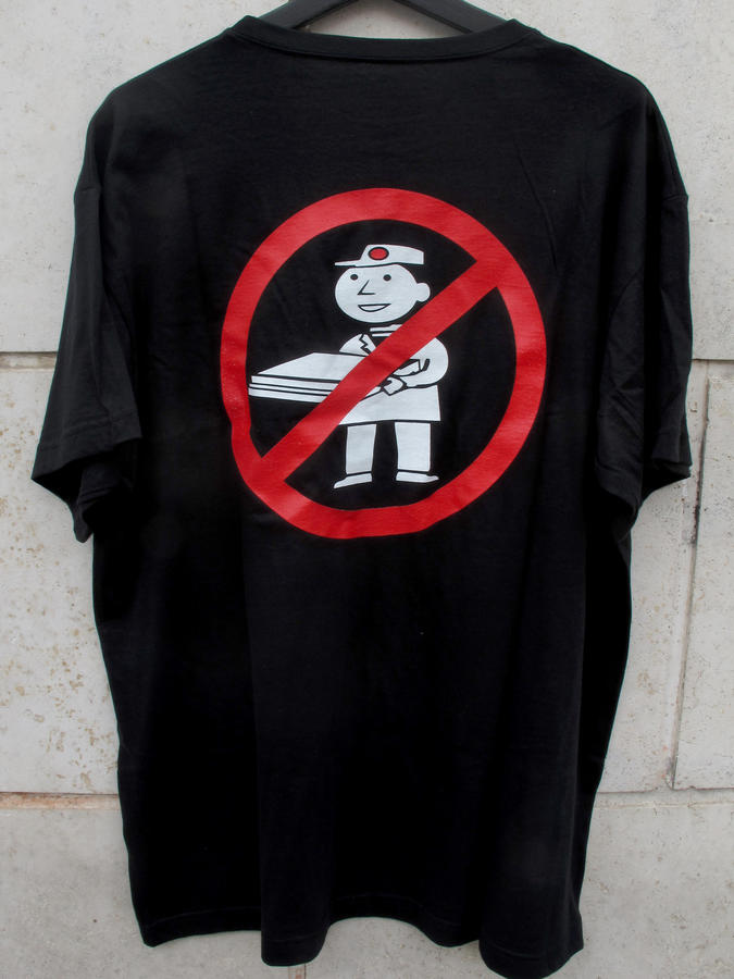 NO PIZZA RAVE t-shirt