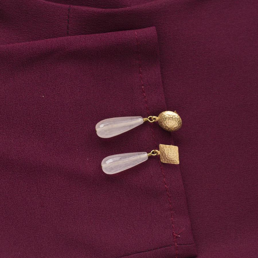 Orecchini con perno martellato di diverse forme [+ colori]