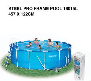 Piscina Bestway Steel Pro Frame circolare 56438 Diam 457x 122 con cartuccia modello nuovo