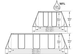 Piscina Bestway Ultra frame rettangolare BESTWAY 56441 misura 404 x 201 x 100 h modello nuovo