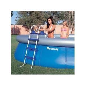 Scala Bestway blu 107 cm per piscine 58044 scaletta doppia