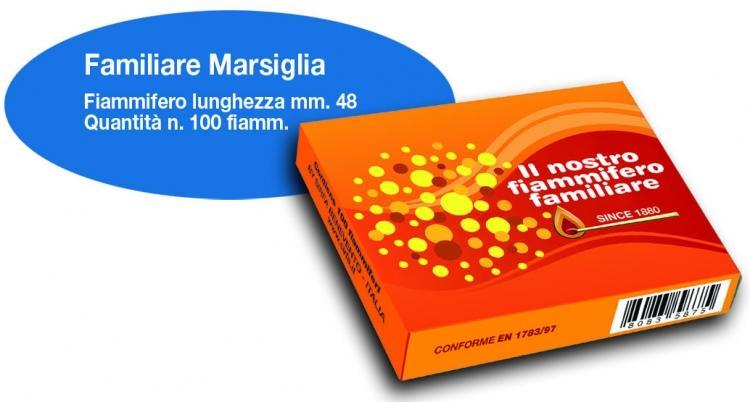 FIAMMIFERI FAMILIARI MARSIGLIA PZ 50X100