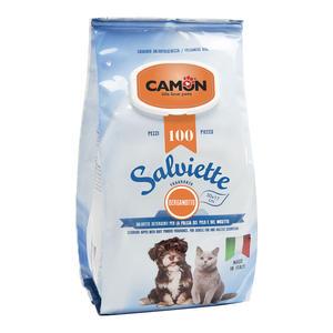 Camon LA004 100 Salviette Detergenti Igeniche Per cani e Gatti Fragranza Bergamotto